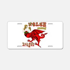 Wales boxer in dragon form Aluminum License Plate