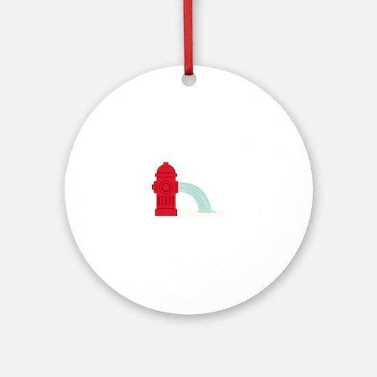Fire Hydrant Round Ornament