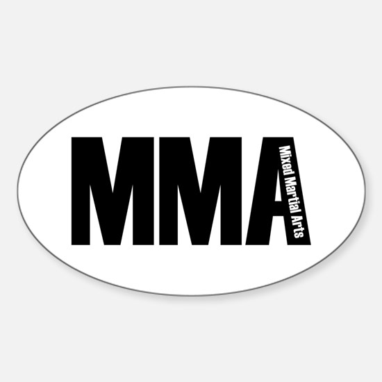 MMA - Mixed Martial Arts Oval Decal