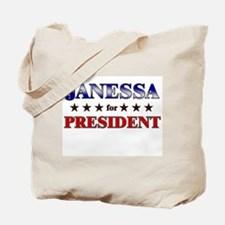 JANESSA for president Tote Bag