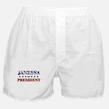 JANESSA for president Boxer Shorts