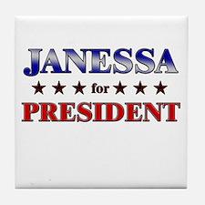 JANESSA for president Tile Coaster