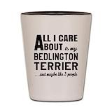 Bedlington terrier Shot Glasses