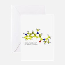 LSD Molecule Greeting Card