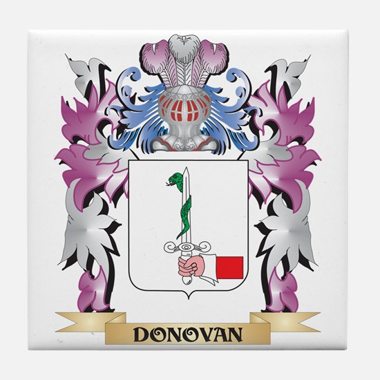 Donovan Coat of Arms (Family Crest) Tile Coaster