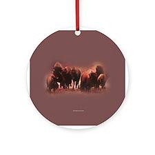 Buffalo Herd Ornament (Round)