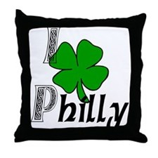 I Love Philly Throw Pillow