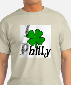 I Love Philly Ash Grey T-Shirt