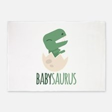 Babysaurus 5'x7'Area Rug