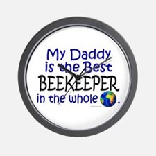 Best Beekeeper In The World (Daddy) Wall Clock