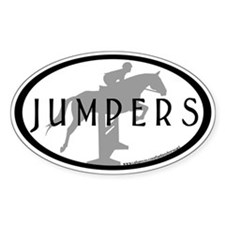 Hunter Jumper O/F (Jumpers text) Oval Decal
