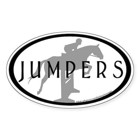 Hunter Jumper O/F (Jumpers text) Oval Sticker