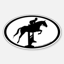 Hunter Jumper O/F (inner border) Oval Decal