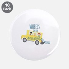 "Wheels On Bus 3.5"" Button (10 pack)"
