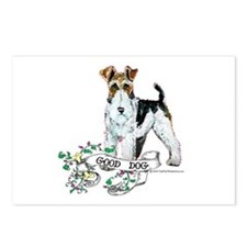 Fox Terrier Good Dog Postcards (Package of 8)