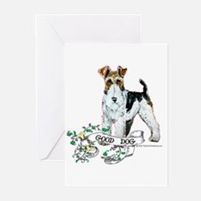 Fox Terrier Good Dog Greeting Cards (Pk of 10)