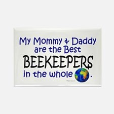 Best Beekeepers In The World Rectangle Magnet