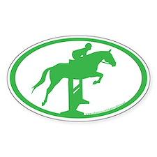 Hunter Jumper O/F (kelly green) Oval Decal