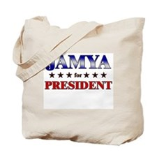 JAMYA for president Tote Bag