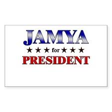 JAMYA for president Rectangle Decal