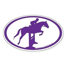 Hunter Jumper Over Fences( purple) Oval Decal