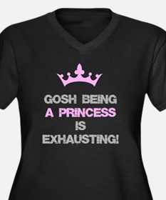 Cute Exhausted girl Women's Plus Size V-Neck Dark T-Shirt