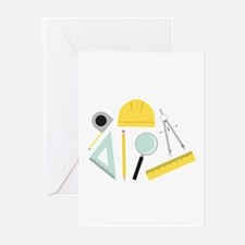 Architecture Tools Greeting Cards