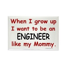 Engineer (Like My Mommy) Rectangle Magnet