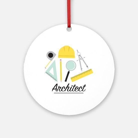Architect Round Ornament
