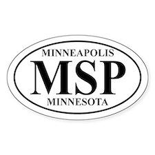 MSP Minneapolis Oval Decal