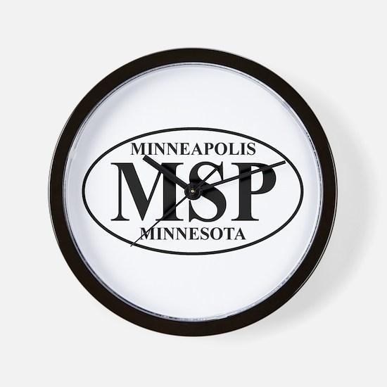 MSP Minneapolis Wall Clock