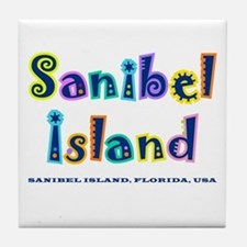 Sanibel Type - Tile Coaster