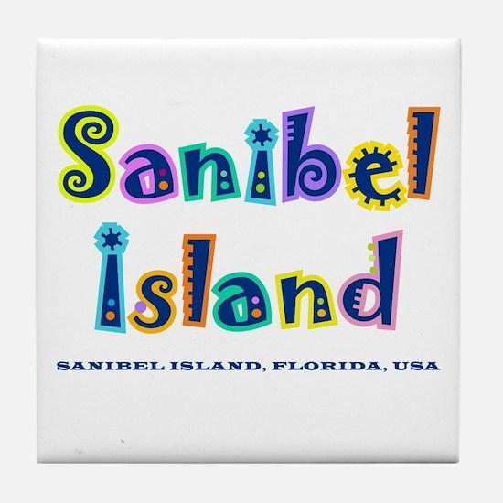 Sanibel Type - Tile Coaster