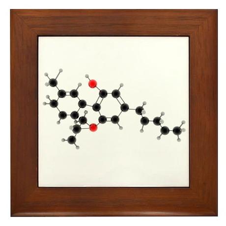 THC Molecule Framed Tile