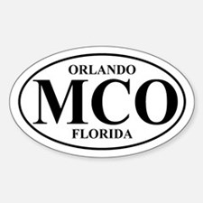 MCO Orlando Oval Decal