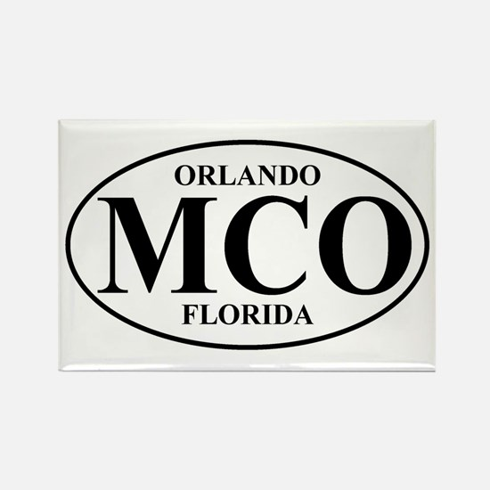 MCO Orlando Rectangle Magnet
