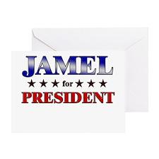 JAMEL for president Greeting Card