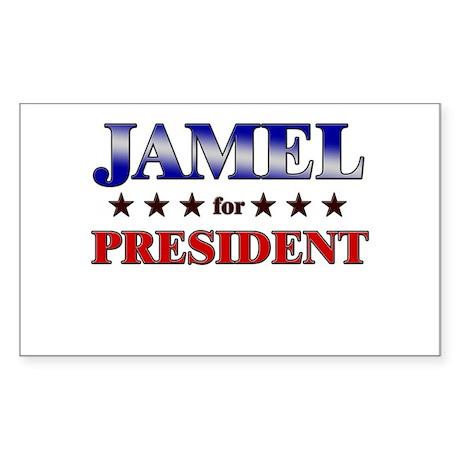 JAMEL for president Rectangle Sticker