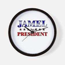 JAMEL for president Wall Clock