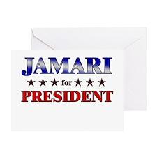 JAMARI for president Greeting Card
