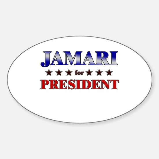 JAMARI for president Oval Decal