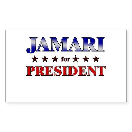 JAMARI for president Rectangle Sticker