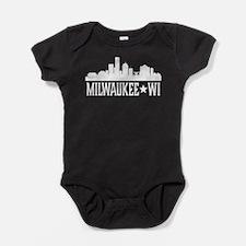 Milwaukee, Wisconsin Skyline Baby Bodysuit