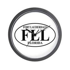 FLL Fort Lauderdale Wall Clock