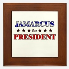 JAMARCUS for president Framed Tile