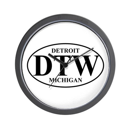 DTW Detroit Wall Clock