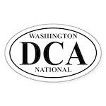 DCA Washington National Oval Sticker
