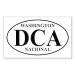 DCA Washington National Rectangle Sticker