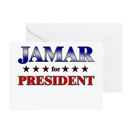 JAMAR for president Greeting Cards (Pk of 10)
