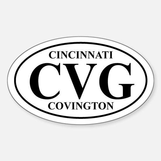 CVG Cincinnati Oval Decal